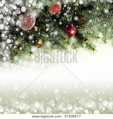Christmas background with Christmas toys. boke