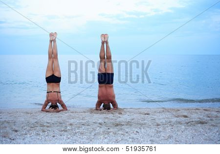 Yoga Near Sea