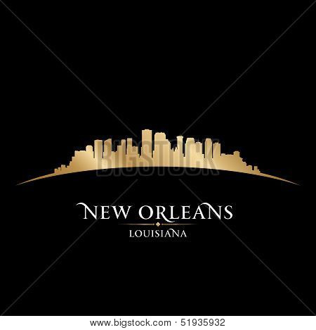 New Orleans Louisiana City Skyline