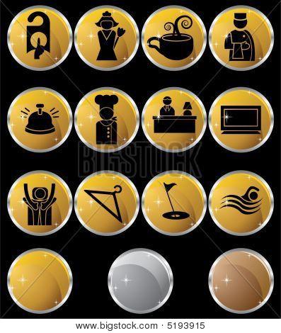 Hotel Metal Button Set