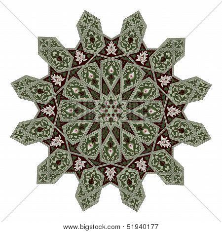 Middle Eastern Floral Pattern Motif