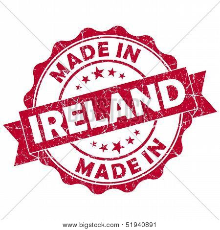 Made In Ireland Grunge Seal