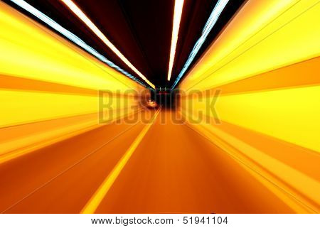 Night, High-speed Car