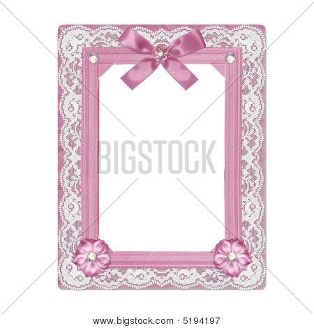 Shabby Pink Frame
