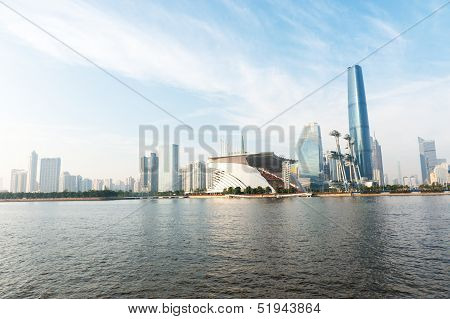 Guanghzou City And Pearl River
