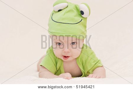 Baby In The Hat Frog
