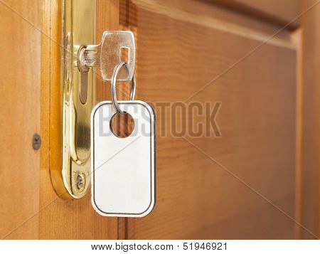 Key in door lock