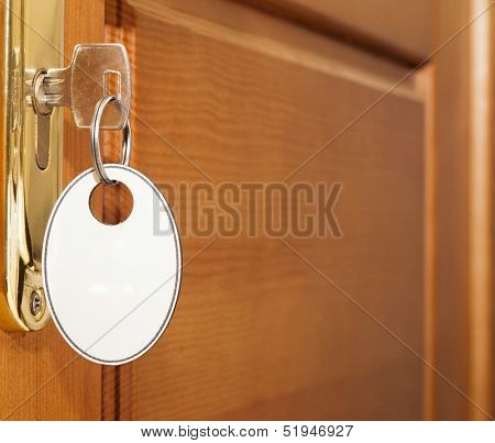 open door with key