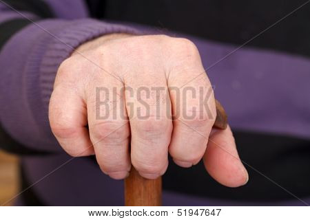 Old Man's Worker Hand