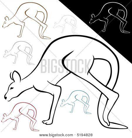 Kangaroo Line Art