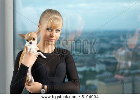 Girl With Doggie