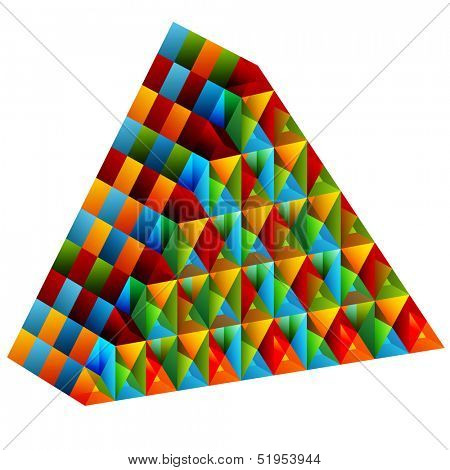 An image of a 3d collective pyramid.