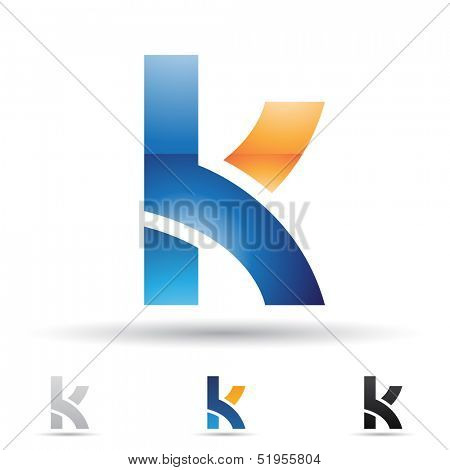 illustration of abstract icons based on the letter K