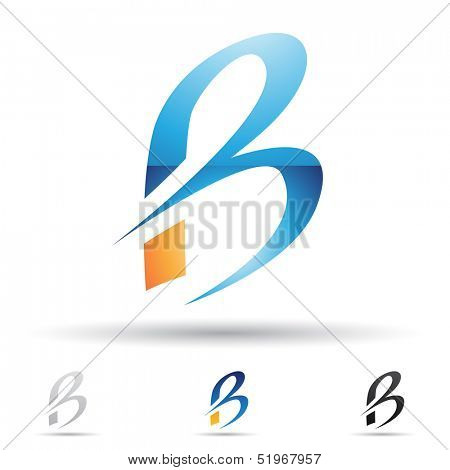 illustration of abstract icons based on the letter B