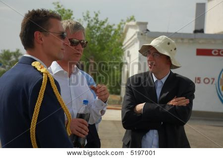 Prince Philippe Of Belgium And Members Of His Delegation