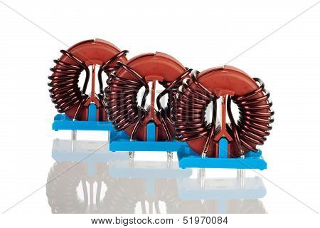 Three Industrial Toroidal Choke Coils