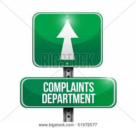 Complaints Department Road Sign Illustration