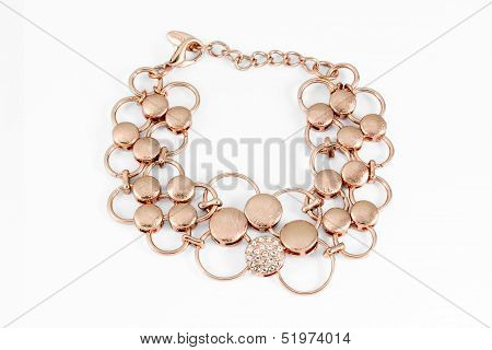 Golden  necklace with gemstone