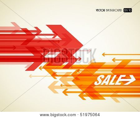 Abstract background with colorful arrows.