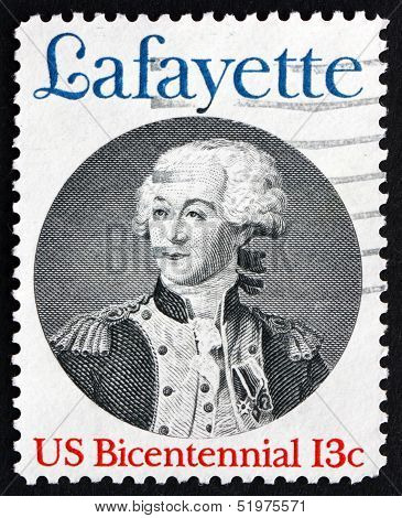 Postage Stamp Usa 1977 Marquis De Lafayette