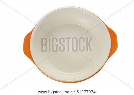 top view baking utensils on the white background
