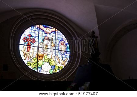 Rose Window Of The Granon Church