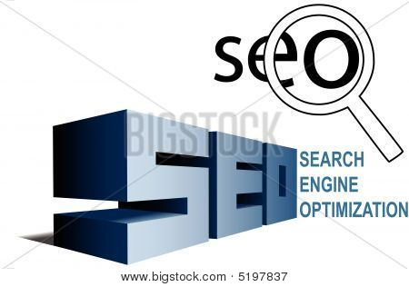 Seo Search Engine Optimization Symbols Find Magnifying Glass