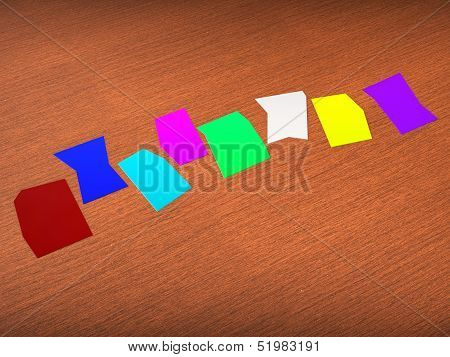 Eight Blank Paper Slips Show Copyspace For 8 Letter Word