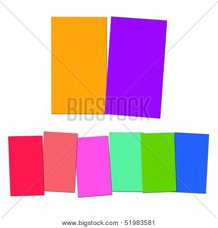 Two And Six Blank Paper Slips Show Copyspace For 2 Or 6 Letter Words