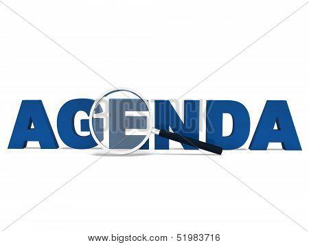 Agenda Word Means To Do Schedule Program Or Agendas