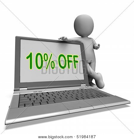 Ten Percent Off Monitor Means Deduction Or Sale Online.