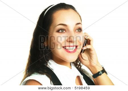 Businesswoman Talking On The Cellphone