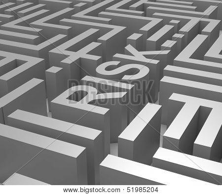 Risk Maze Shows Dangerous Or Risky