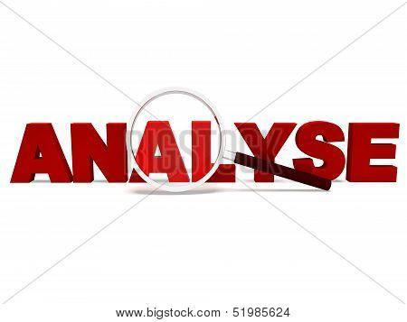 Analyse Word Shows Analytics Analysis Or Analyzing