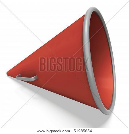 Loud Hailer Shows Megaphone Or Shouting Announcement