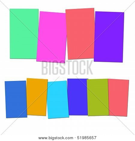 Four And Six Blank Paper Slips Show Copyspace For 4 Or 6 Letter Words