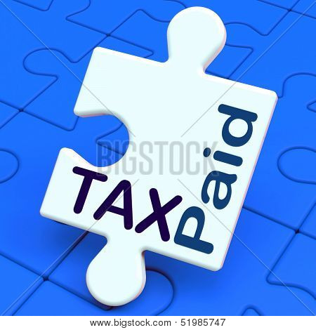 Tax Paid Puzzle Shows Duty Or Excise Payment