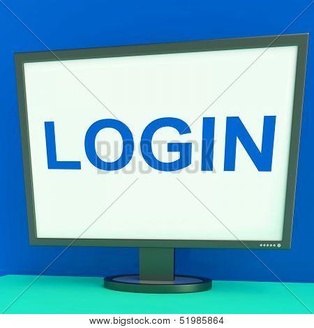 Log In Screen Shows Website Internet Login Security