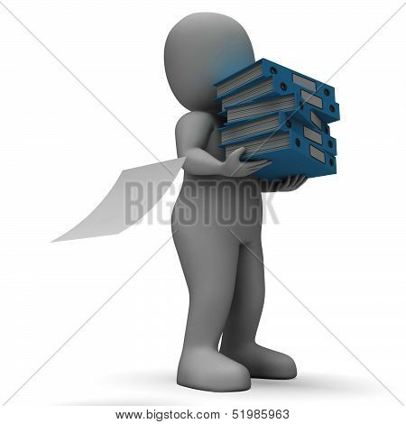 Organizing Clerk Carrying Organized Files