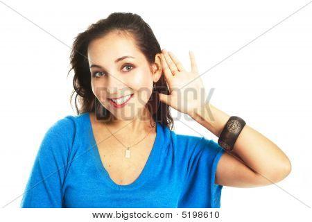 Girl Listening To Something