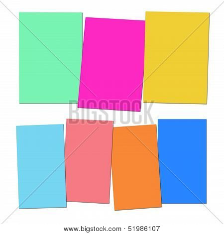 Three And Four Blank Paper Slips Show Copyspace For 3 Or 4 Letter Words