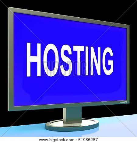 Hosting Shows Web Internet Or Website Domain