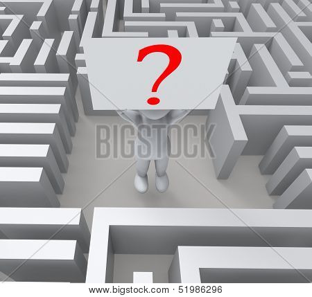 Question In Maze Showing Confusion