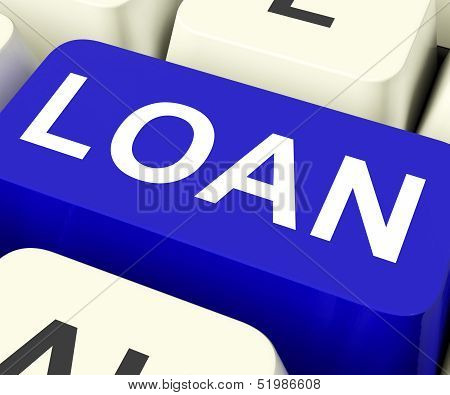 Loan Key Means Lending Or Loaning.