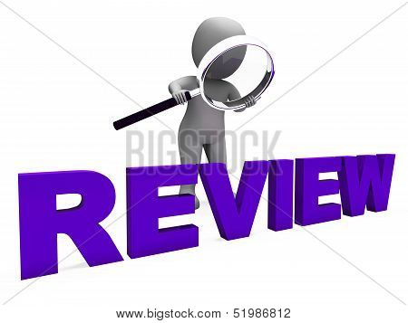 Review Character Shows Reviewing Evaluate And Reviews
