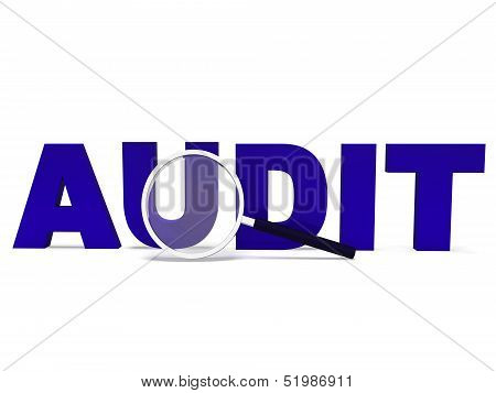 Audit with Magnifying Glass