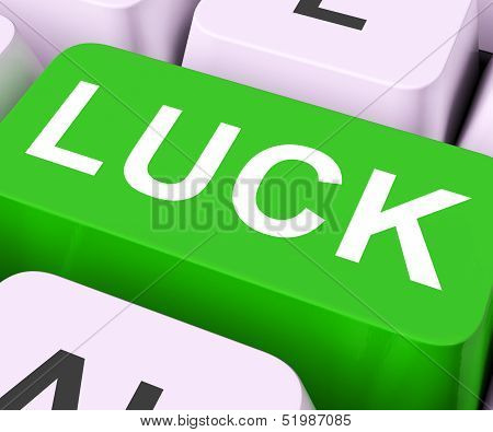 Luck Key Shows Fate Or Fortunate.