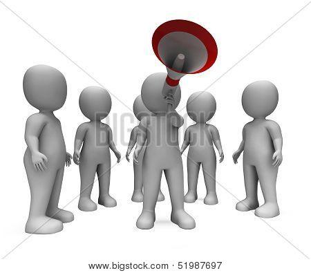 Loud Hailer Character Shows Speech Guidance And Announcement