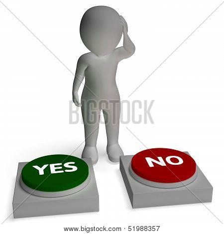 Yes No Buttons Shows Accept Or Refuse