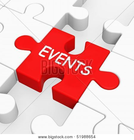 Events Puzzle Means Occasion Event Or Function